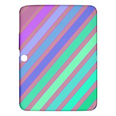 Pastel colorful lines Samsung Galaxy Tab 3 (10.1 ) P5200 Hardshell Case