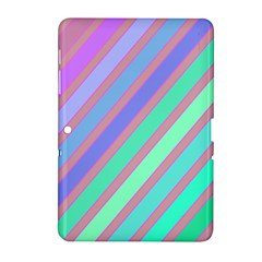 Pastel colorful lines Samsung Galaxy Tab 2 (10.1 ) P5100 Hardshell Case