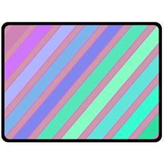 Pastel colorful lines Double Sided Fleece Blanket (Large)