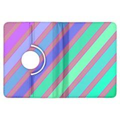 Pastel colorful lines Kindle Fire HDX Flip 360 Case