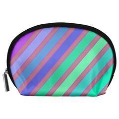 Pastel colorful lines Accessory Pouches (Large)