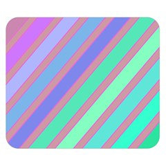 Pastel colorful lines Double Sided Flano Blanket (Small)