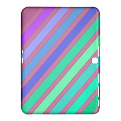 Pastel colorful lines Samsung Galaxy Tab 4 (10.1 ) Hardshell Case