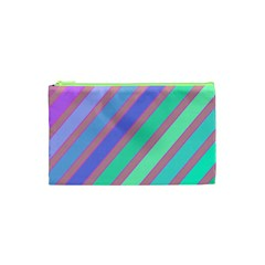 Pastel colorful lines Cosmetic Bag (XS)
