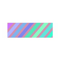 Pastel colorful lines Satin Scarf (Oblong)
