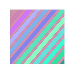 Pastel colorful lines Small Satin Scarf (Square)
