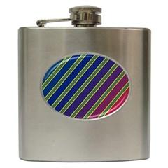 Decorative lines Hip Flask (6 oz)
