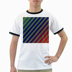 Decorative lines Ringer T-Shirts