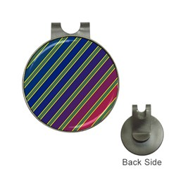 Decorative lines Hat Clips with Golf Markers