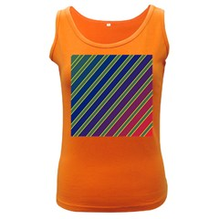 Decorative lines Women s Dark Tank Top