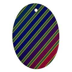 Decorative Lines Oval Ornament (two Sides)