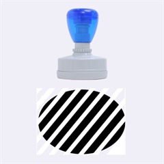 Decorative lines Rubber Oval Stamps