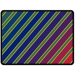 Decorative lines Double Sided Fleece Blanket (Large)