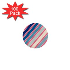 Colorful lines 1  Mini Buttons (100 pack)