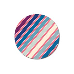 Colorful lines Magnet 3  (Round)