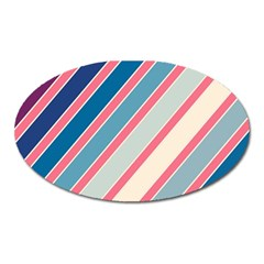 Colorful lines Oval Magnet