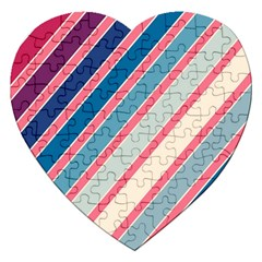 Colorful lines Jigsaw Puzzle (Heart)