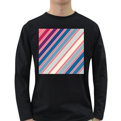 Colorful lines Long Sleeve Dark T-Shirts