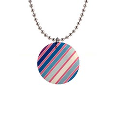 Colorful lines Button Necklaces