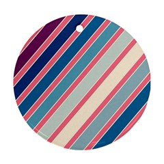 Colorful lines Round Ornament (Two Sides)