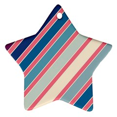 Colorful lines Star Ornament (Two Sides)