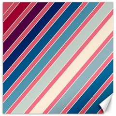 Colorful lines Canvas 12  x 12