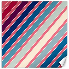 Colorful lines Canvas 16  x 16