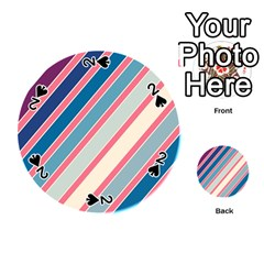 Colorful lines Playing Cards 54 (Round)