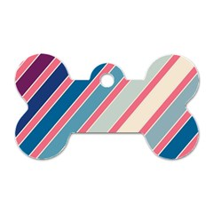 Colorful lines Dog Tag Bone (Two Sides)