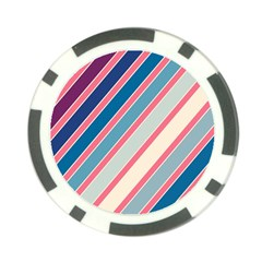 Colorful lines Poker Chip Card Guards