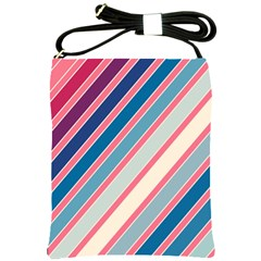 Colorful lines Shoulder Sling Bags