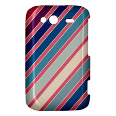 Colorful lines HTC Wildfire S A510e Hardshell Case