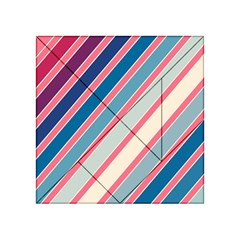 Colorful lines Acrylic Tangram Puzzle (4  x 4 )