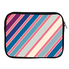 Colorful lines Apple iPad 2/3/4 Zipper Cases