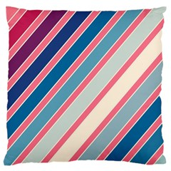 Colorful lines Large Flano Cushion Case (Two Sides)