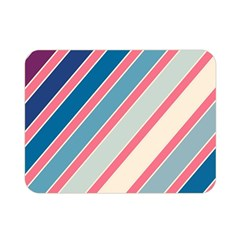 Colorful lines Double Sided Flano Blanket (Mini)