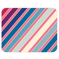 Colorful lines Double Sided Flano Blanket (Medium)