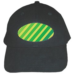Green and yellow lines Black Cap