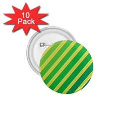 Green and yellow lines 1.75  Buttons (10 pack)