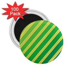 Green and yellow lines 2.25  Magnets (100 pack)