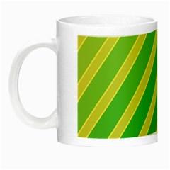 Green and yellow lines Night Luminous Mugs