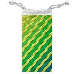 Green and yellow lines Jewelry Bags