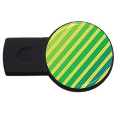Green and yellow lines USB Flash Drive Round (4 GB)