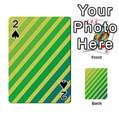 Green and yellow lines Playing Cards 54 Designs