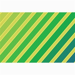 Green and yellow lines Collage Prints