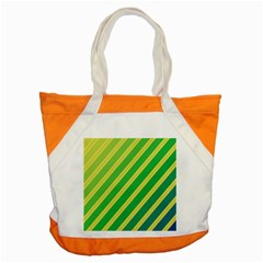 Green and yellow lines Accent Tote Bag