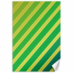 Green and yellow lines Canvas 12  x 18