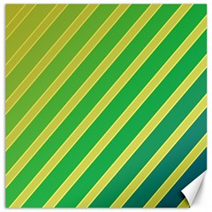 Green and yellow lines Canvas 16  x 16