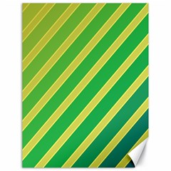 Green and yellow lines Canvas 18  x 24