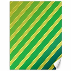 Green and yellow lines Canvas 36  x 48